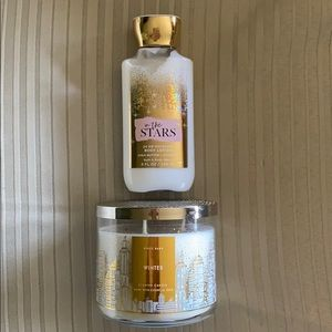Bath and Body Winter Candle with bonus lotion